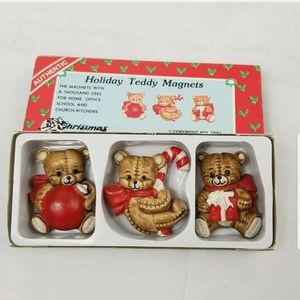 Holiday Teddy Magnets Christmas Around the World